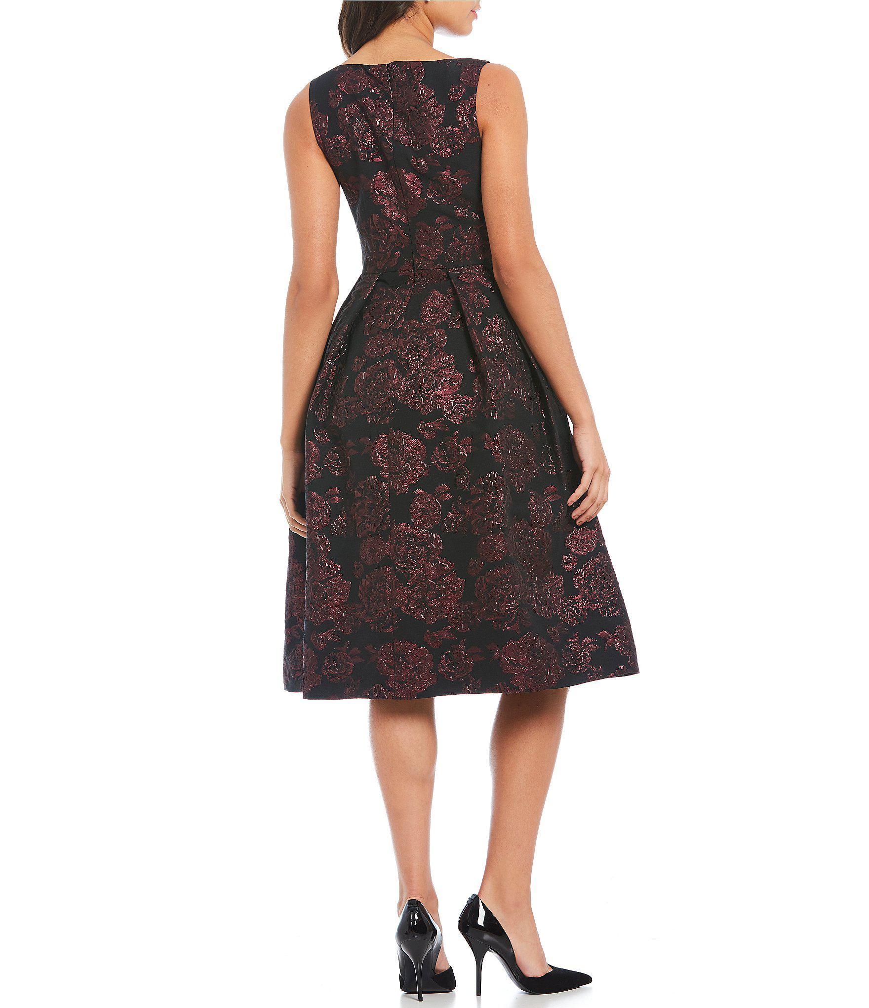 54baa779c6 Lyst Ivanka Trump Fl Print Brocade Sleeveless A Line Dress In