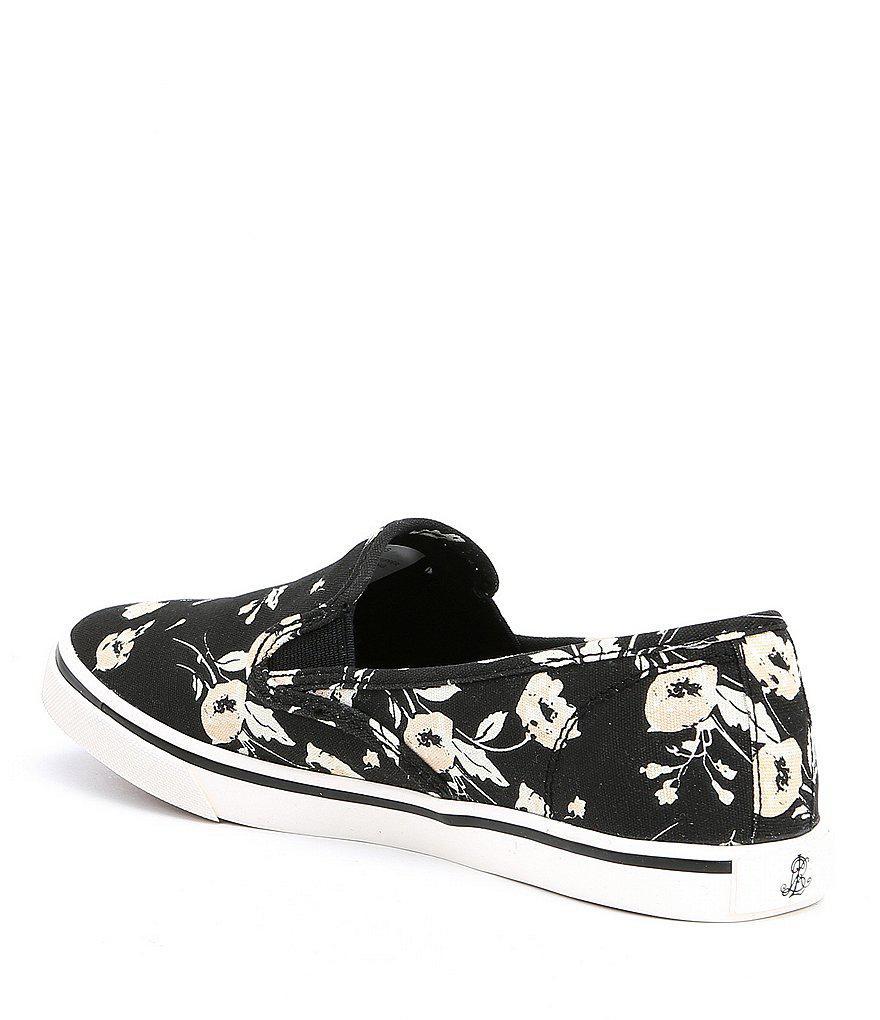 Janis Floral Printed Canvas Slip-On Sneakers kx413