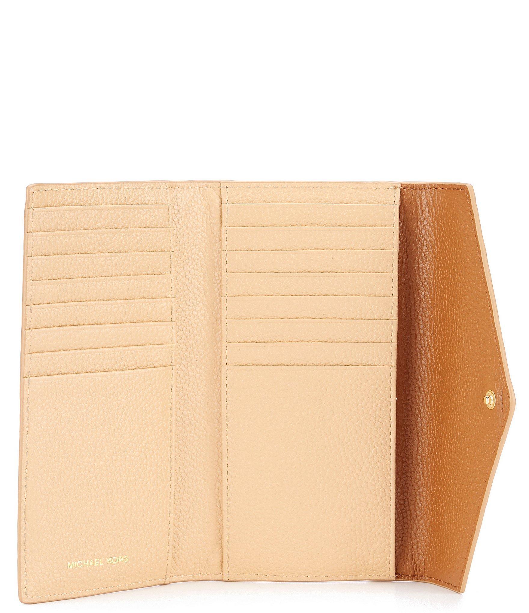 d0ecda3353d6 MICHAEL Michael Kors - Brown Large Slim Envelope Trifold Wallet - Lyst.  View fullscreen