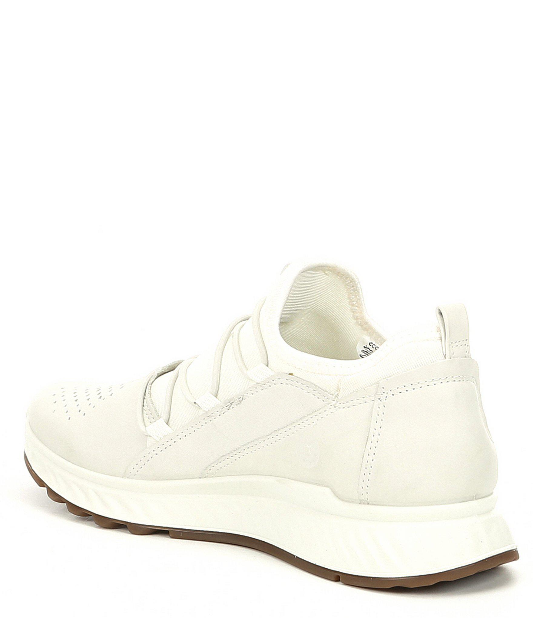 Ecco White Women's St1 Toggle Leather And Neoprene Sneakers