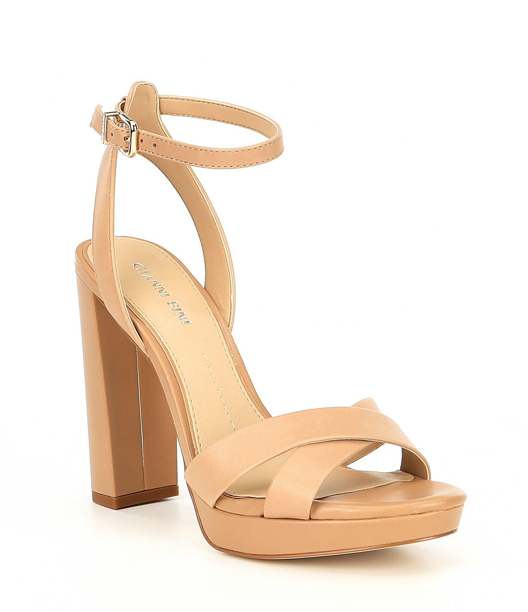 45cf6f99ce2 Gianni Bini. Women s Veeniz Leather Block Heel Dress Sandals