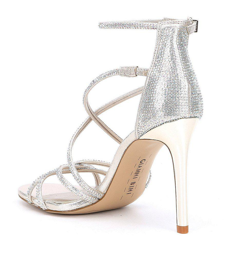 85f12de838c Gianni Bini Metallic Anselle Strappy Jeweled Dress Sandals