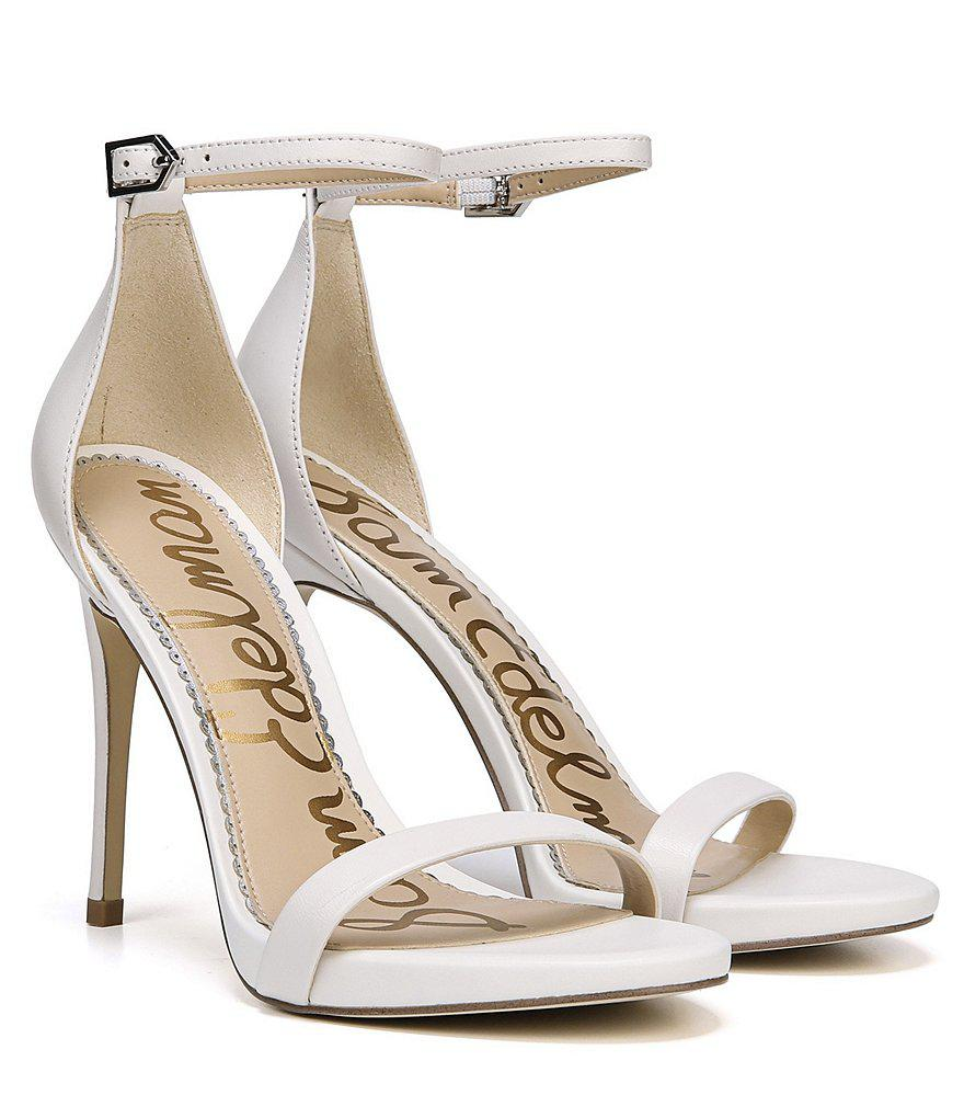 Ariella Metallic Leather Ankle Strap Dress Sandals