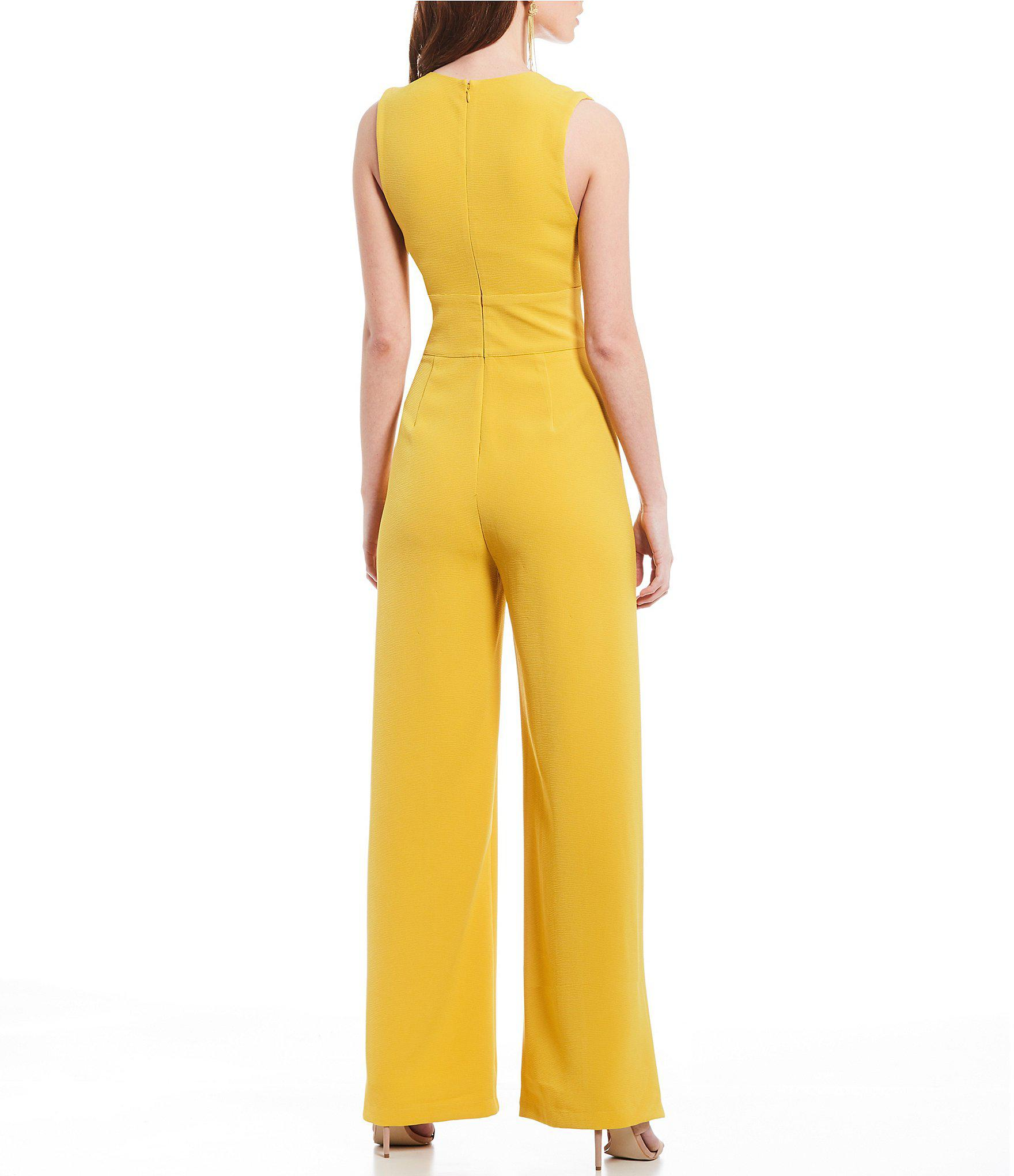 d438627a6b4a Lyst - Sugarlips Wide Leg Jumpsuit in Yellow
