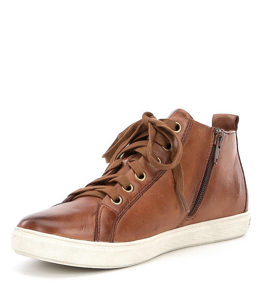 Cobb Hill Willa Asymmetrical Zip High Top Sneakers MSdlj