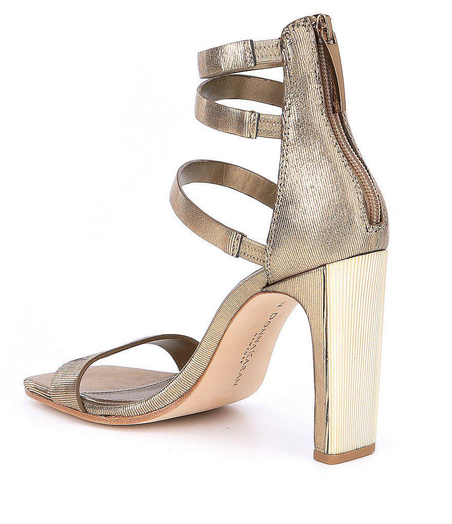Sol Metallic Leather Strappy Dress Sandals 5MeLFEp