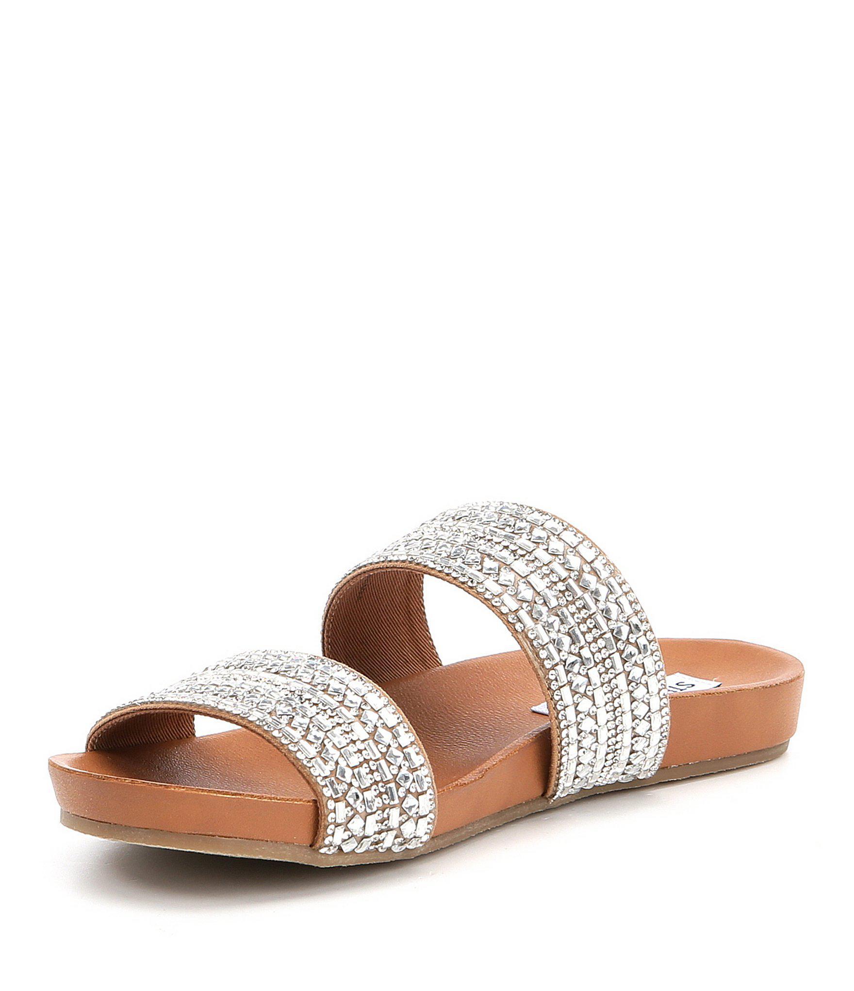 461145daa9c Lyst - Steve Madden Dynamo Rhinestone Banded Sandals in Brown