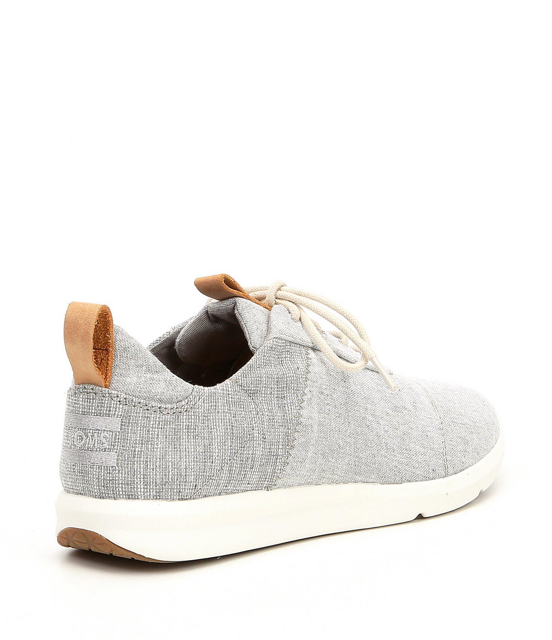 019394186e04 TOMS - Gray Women s Cabrillo Chambray Sneakers - Lyst. View fullscreen