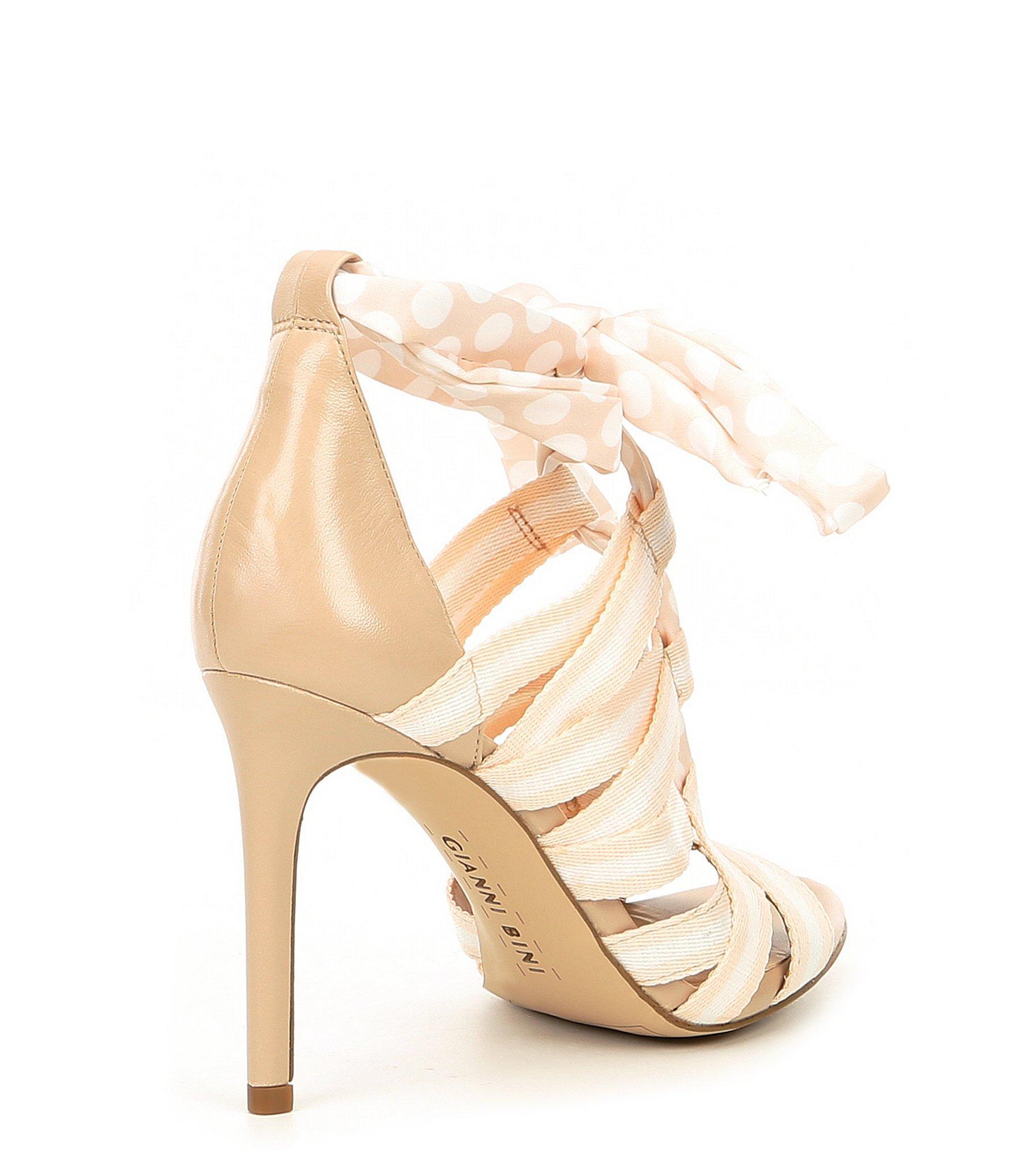 7fd535df60 Gianni Bini - Natural Abrianna Printed Lace-up Dress Sandals - Lyst. View  fullscreen