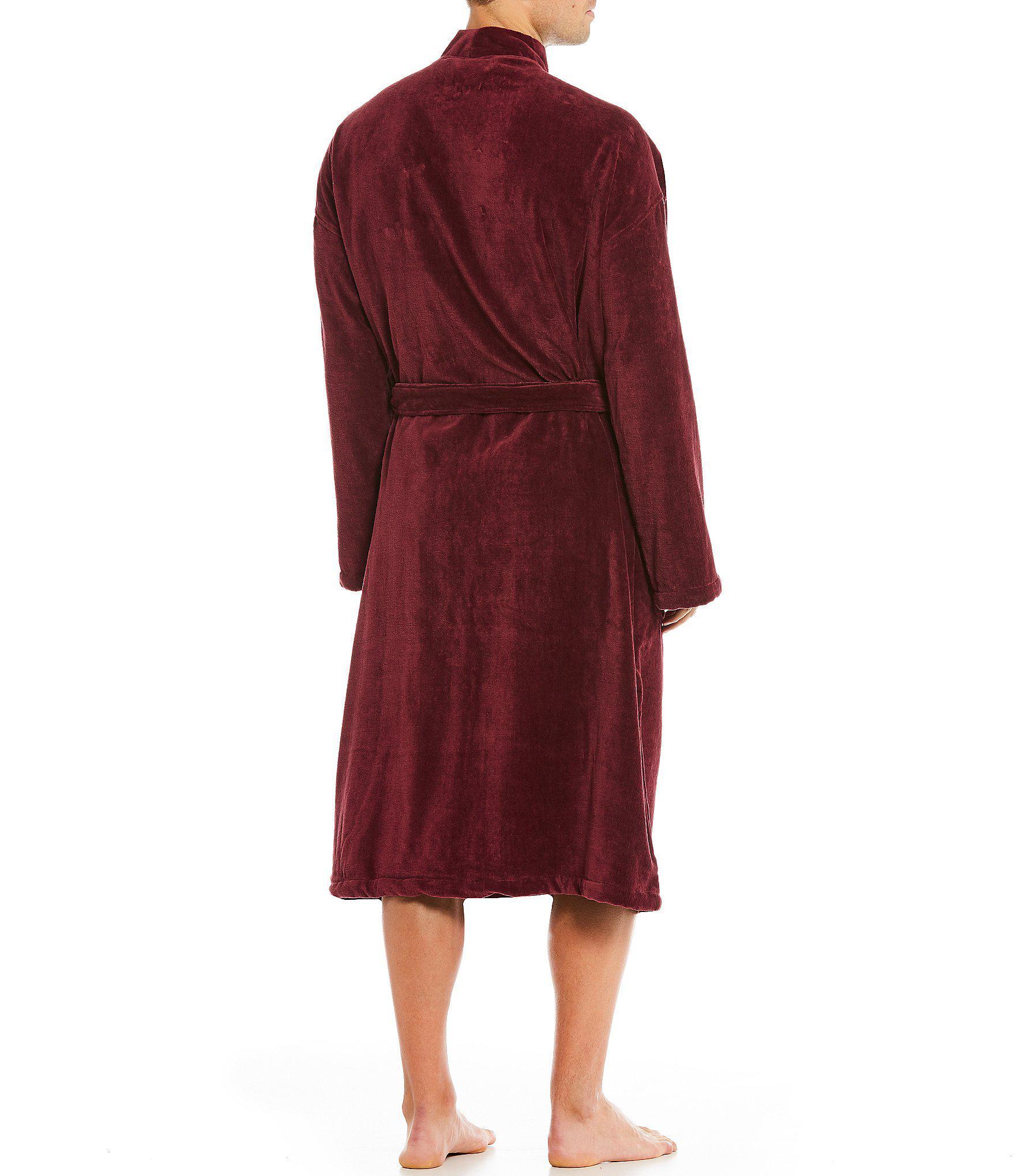 Lyst - Polo Ralph Lauren Velour Kimono Robe in Red for Men