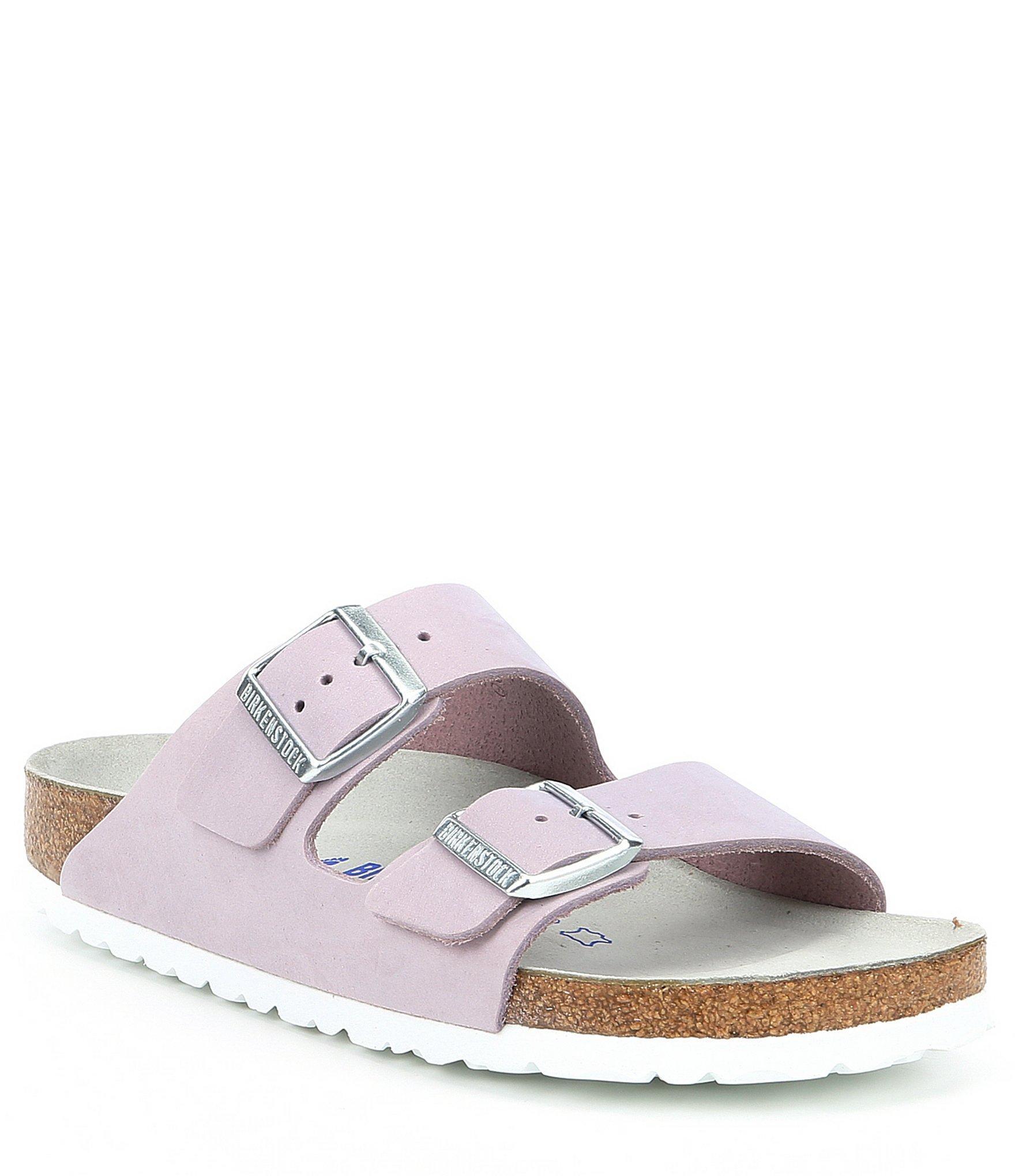 4609613eb986 Birkenstock - Purple Women s Arizona Soft Footbed Nubuck Sandals - Lyst.  View fullscreen
