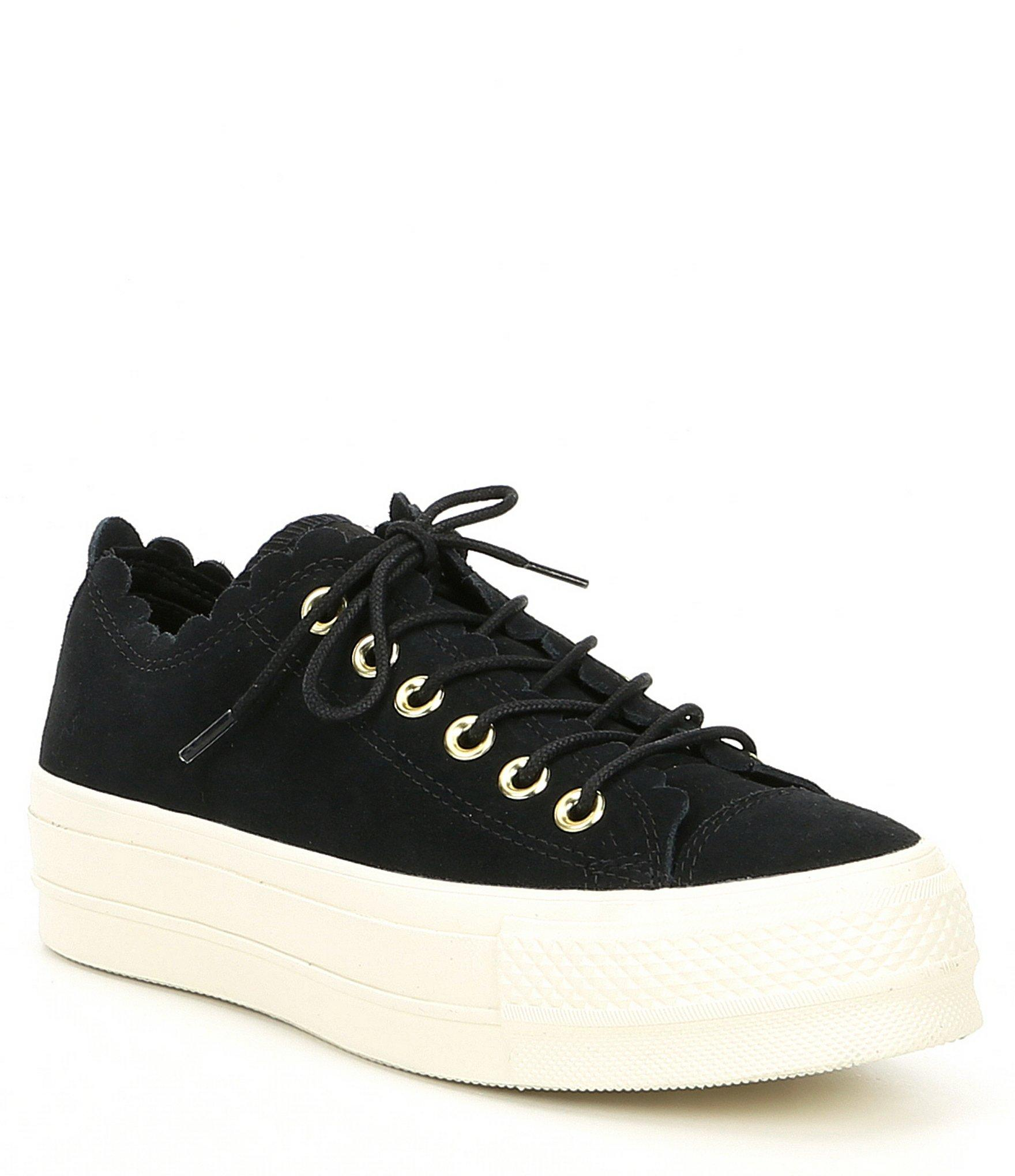 206e7c285ae Converse. Black Women s Chuck Taylor All Star Frilly Thrills Platform  Sneakers
