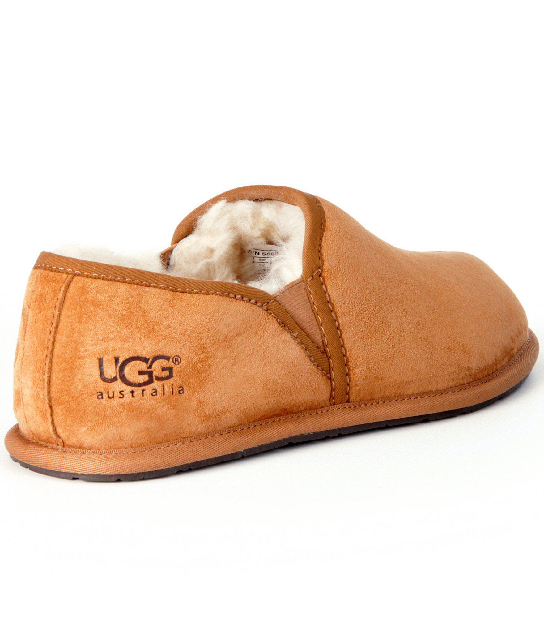 5c5939e39825e Ugg Brown ® Men´s Scuff Romeo Ii Suede Sheepskin Lined Slip On Slipper for.  View fullscreen