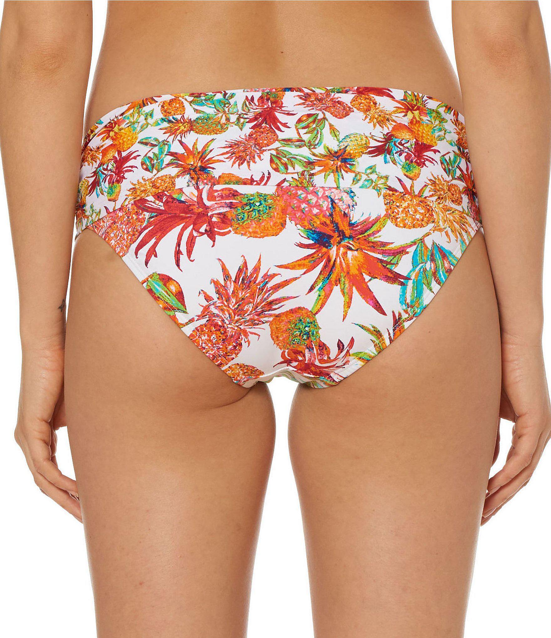 c5c51e5333ba21 Lyst - Bleu Rod Beattie Pineapple Sarong Hipster Bikini Swimsuit ...