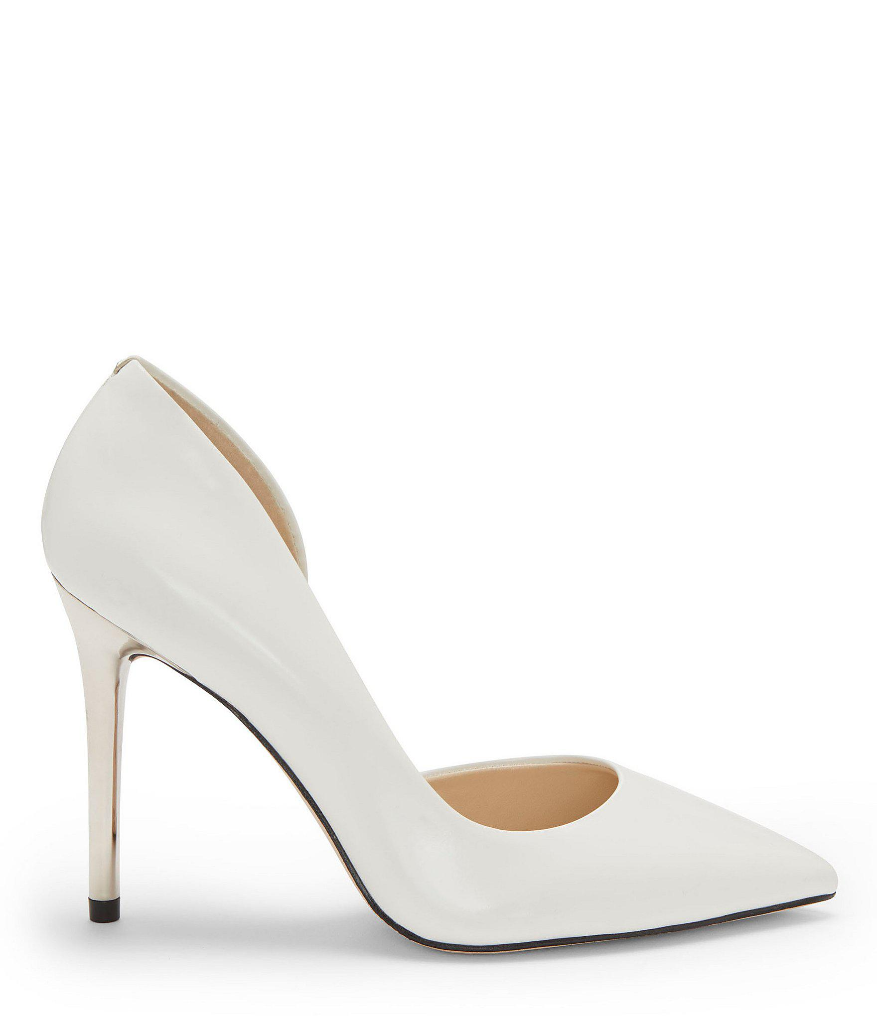 d7eea0ebeca Jessica Simpson - White Lucina Natal Leather Pumps - Lyst. View fullscreen