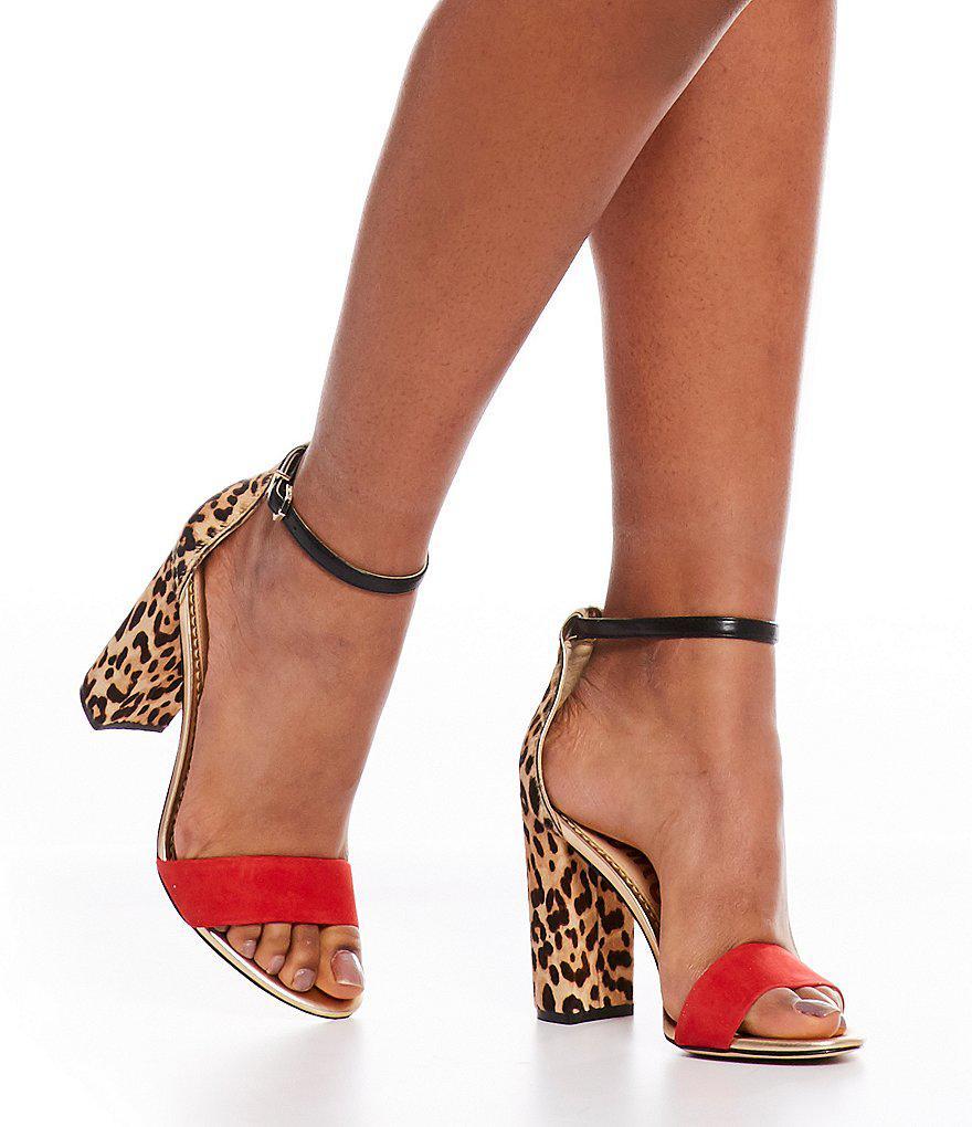 e00282daebc2 Lyst - Sam Edelman Yaro Leopard Print Calf Hair Dress Sandals