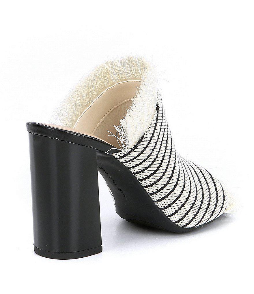 Janeen Block Heel Dress Mules 4kClvg3IU