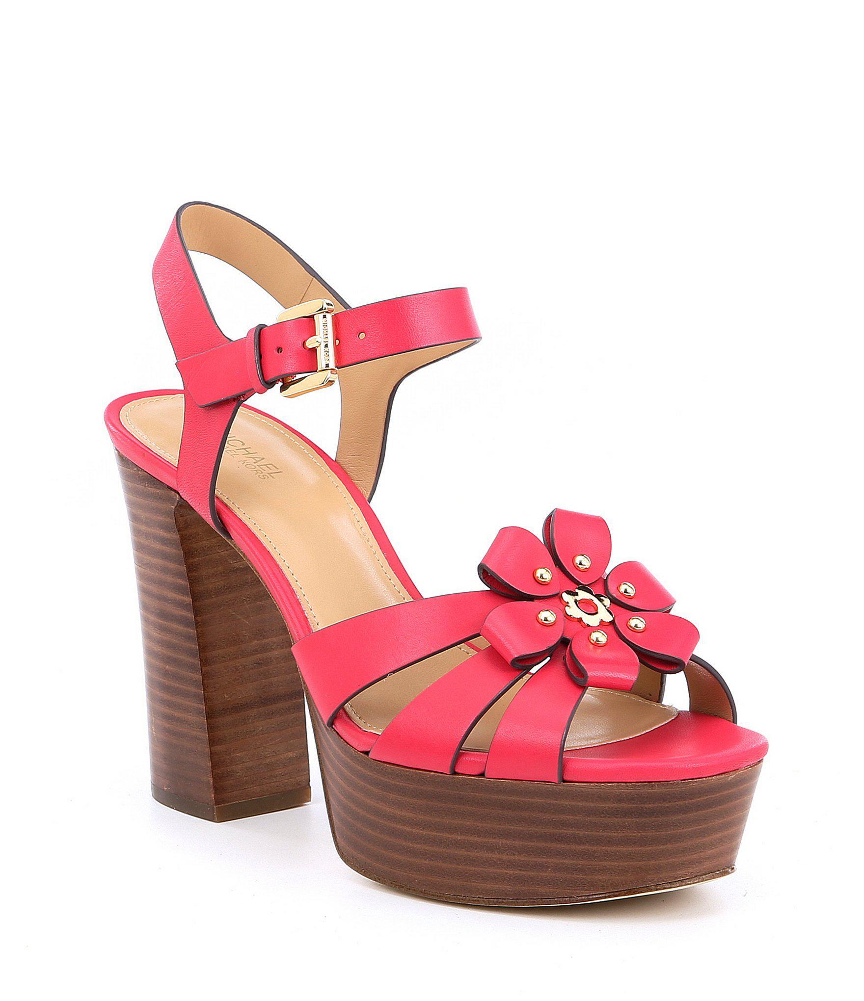 fb923467eb MICHAEL Michael Kors Tara Floral Applique Block Heel Platform Dress ...
