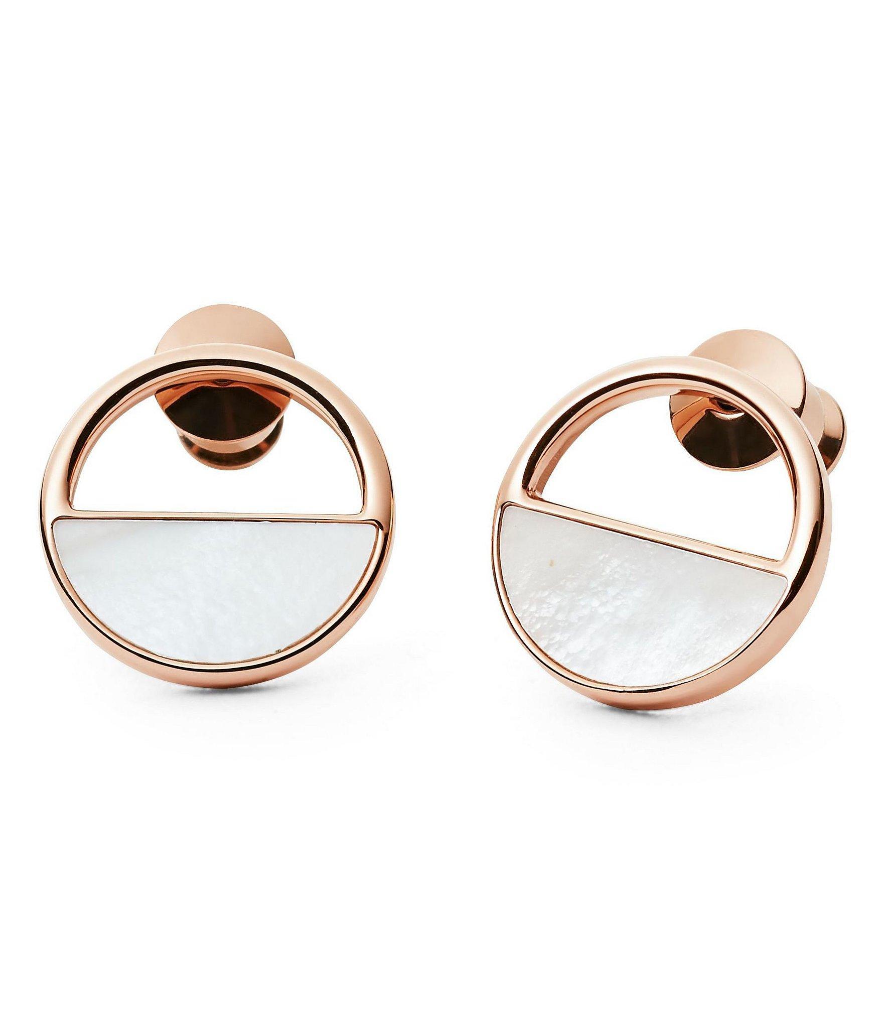 Elin Rose Gold Tone Stud Earrings
