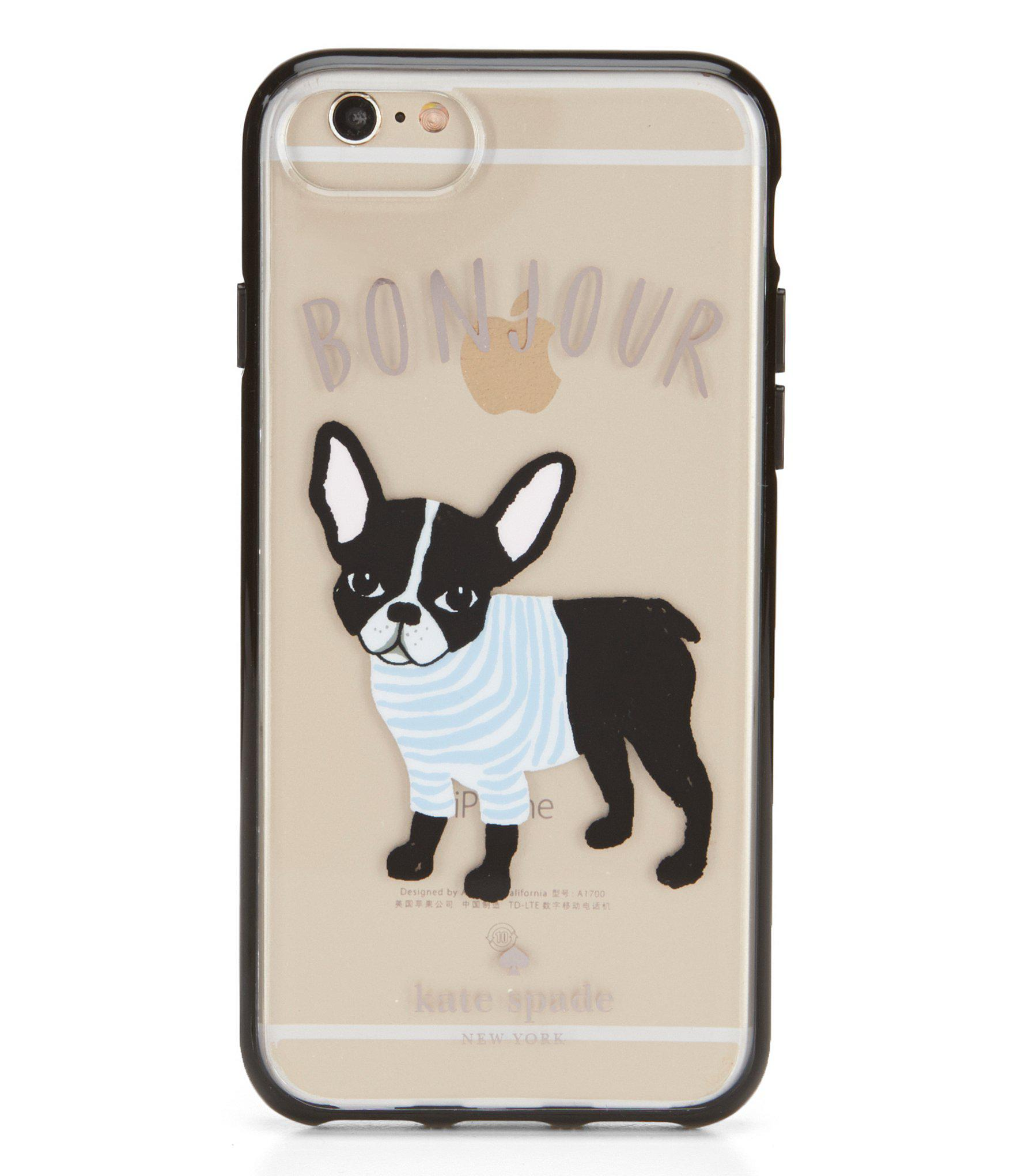 new style be08f 747e9 Kate Spade Multicolor Bonjour French Bulldog Iphone 7 Case