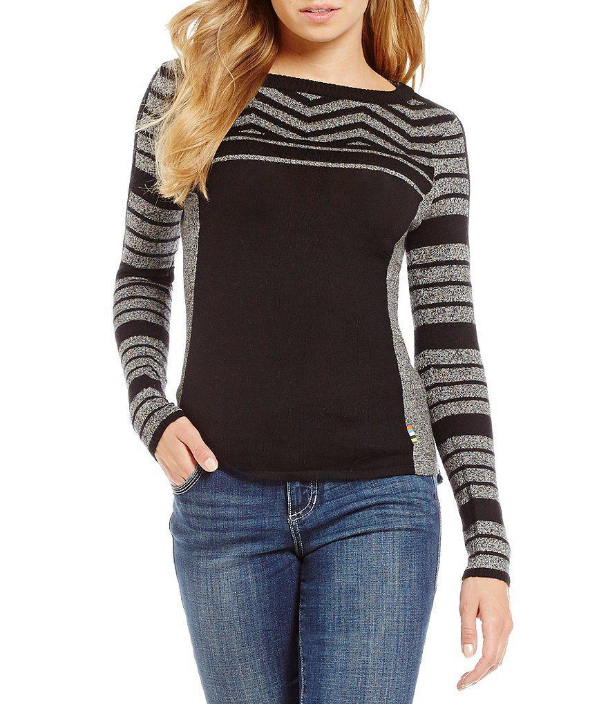 dedf3a5b744504 Smartwool Dacono Ski Sweater in Black - Lyst