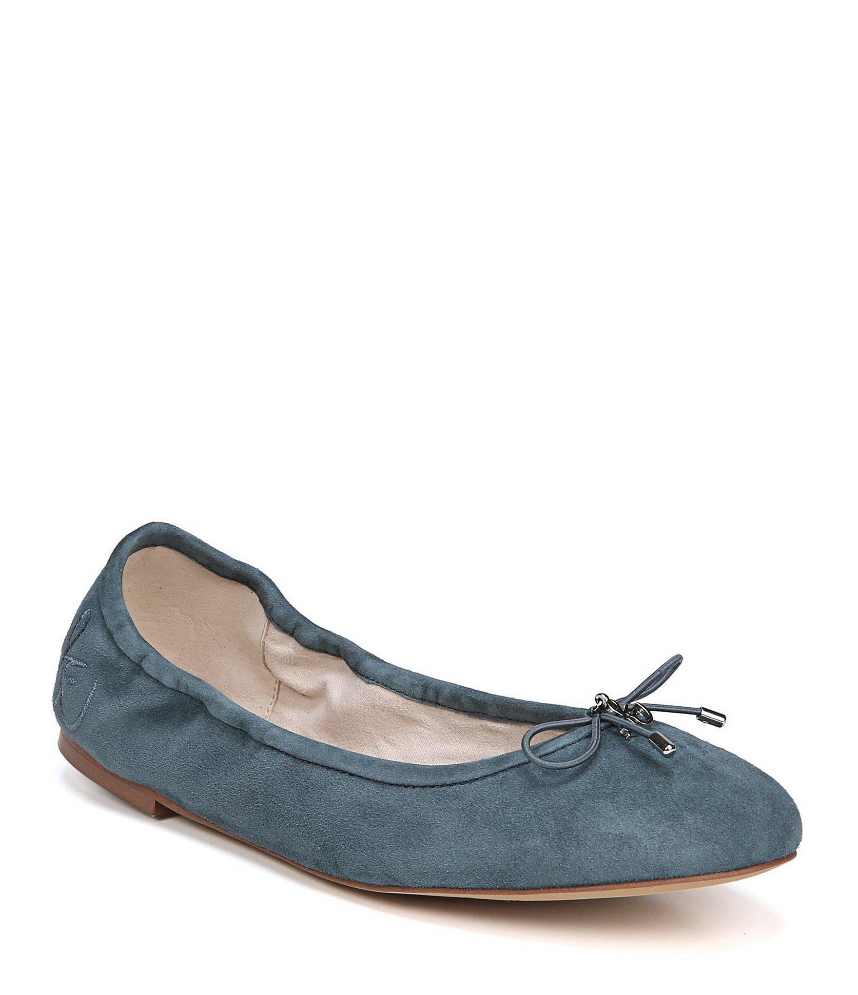 da94fec4eff687 Lyst - Sam Edelman Felicia Suede Ballet Flats in Blue