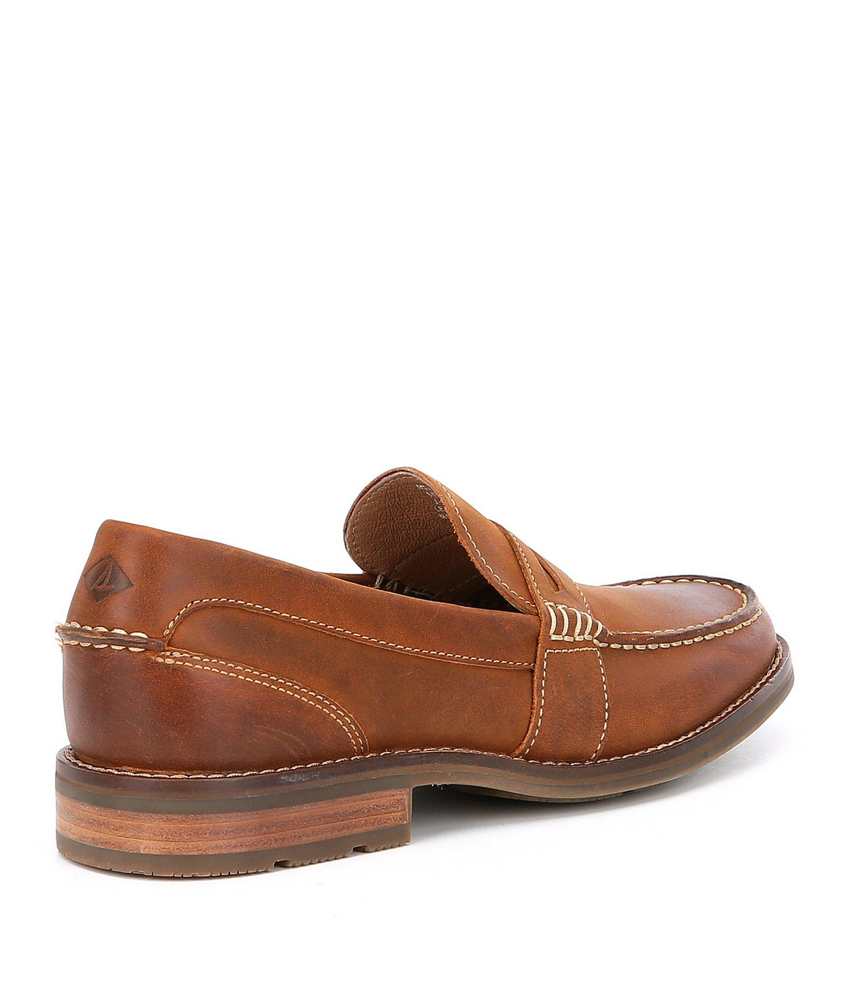 f8204087a4e7 Sperry Top-Sider - Brown Men s Essex Penny Loafers for Men - Lyst. View  fullscreen