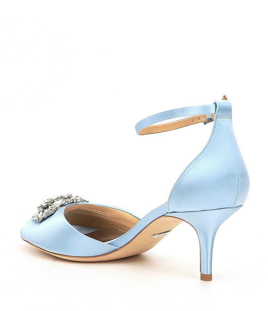 Halsey Satin Ornament Detail Ankle Strap Peep-Toe Dress Sandals 6NrJoZc