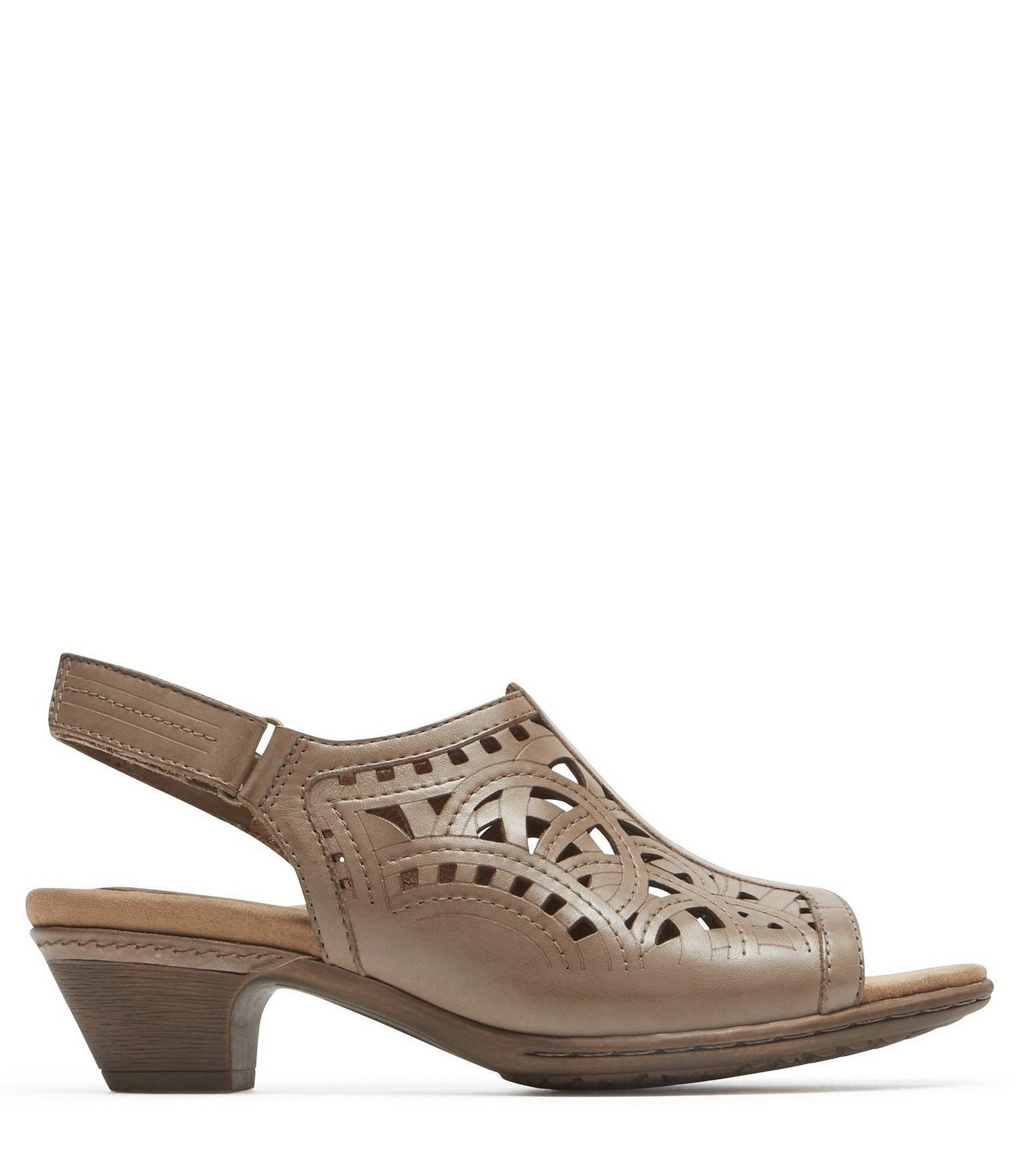102ad2f8a Lyst - Rockport Cobb Hill Abbott High Vamp Sling Sandals in Brown