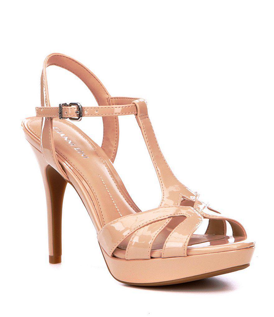 8c639522a76 Lyst - Gianni Bini Heleena Patent Dress Sandals in Pink