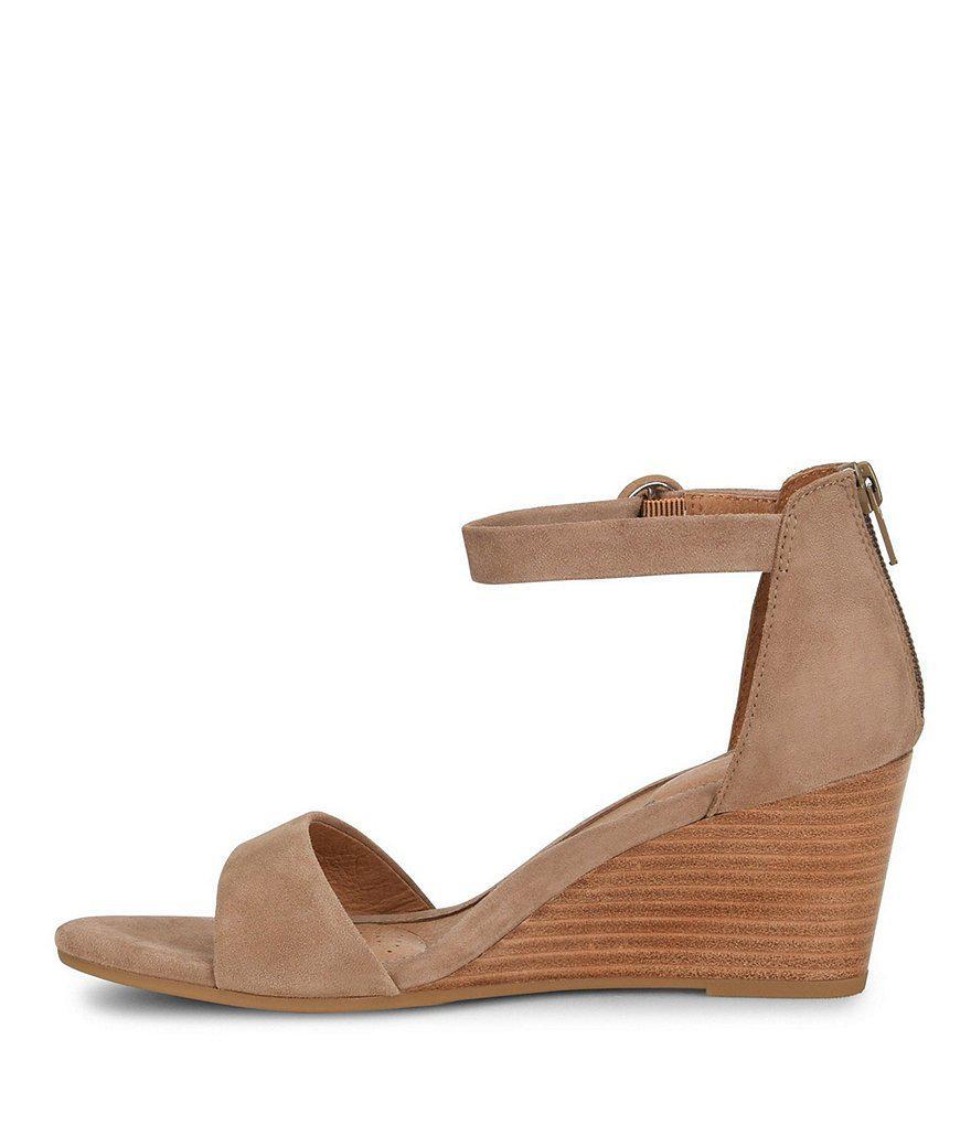 Marla Suede Wedge Sandals GR1mdQWi