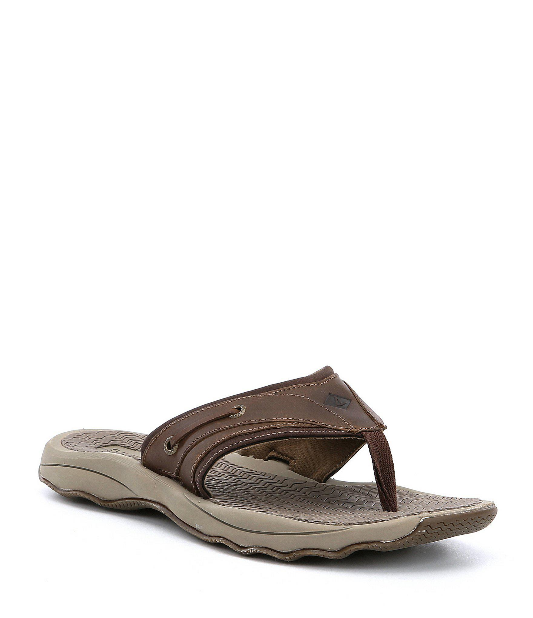 cbe3ee918a7 Lyst - Sperry Top-Sider Outer Banks Flip-flops in Brown for Men