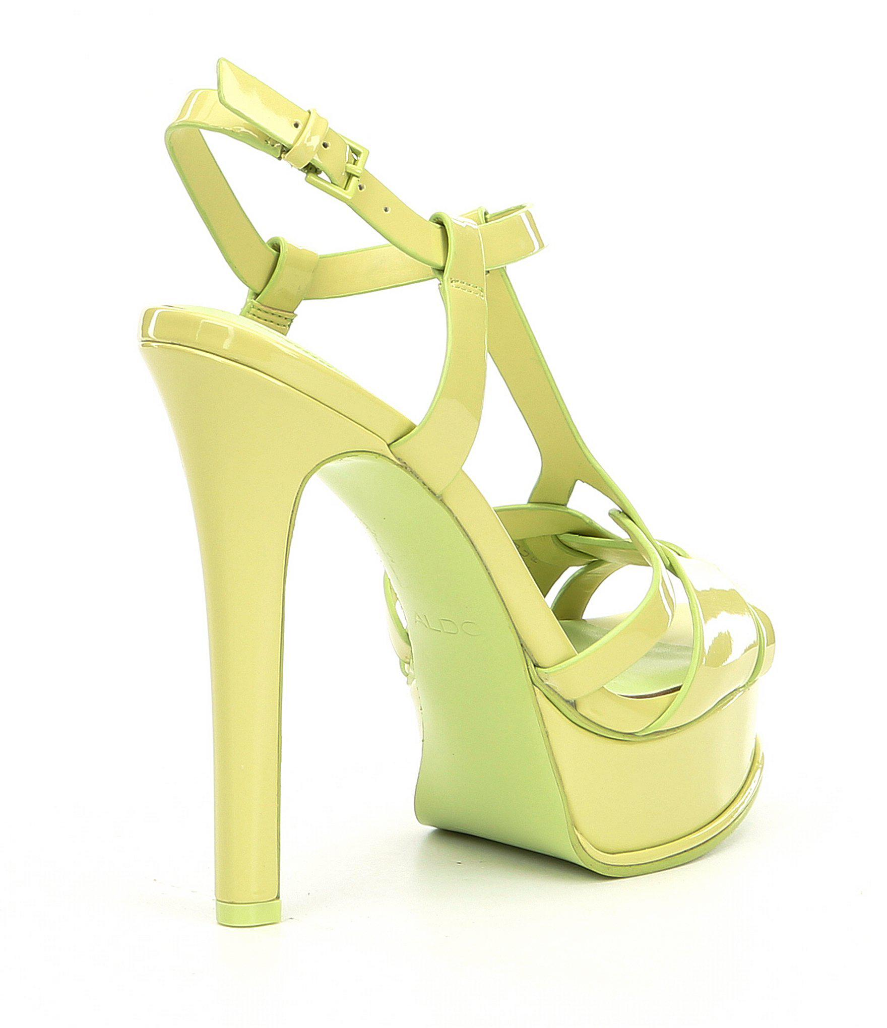 11eaeeaa815 Lyst - ALDO Chelly Platform Dress Sandals in Green