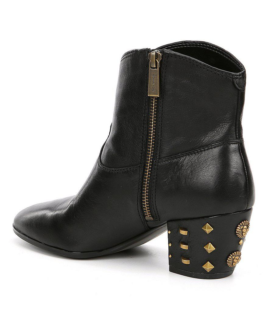 Avery Studded Block Heel Ankle Boots SELOLOLst