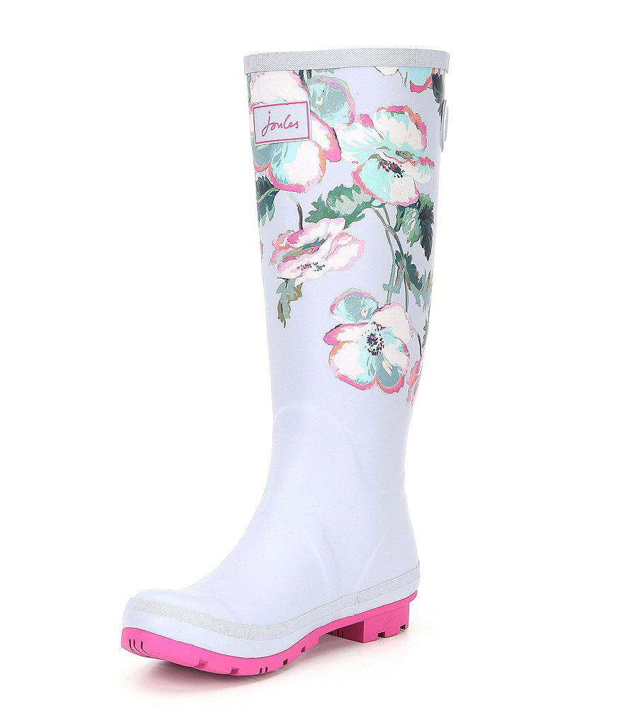 Wellyprint Floral Tall Rain Boots yT73C2ijD