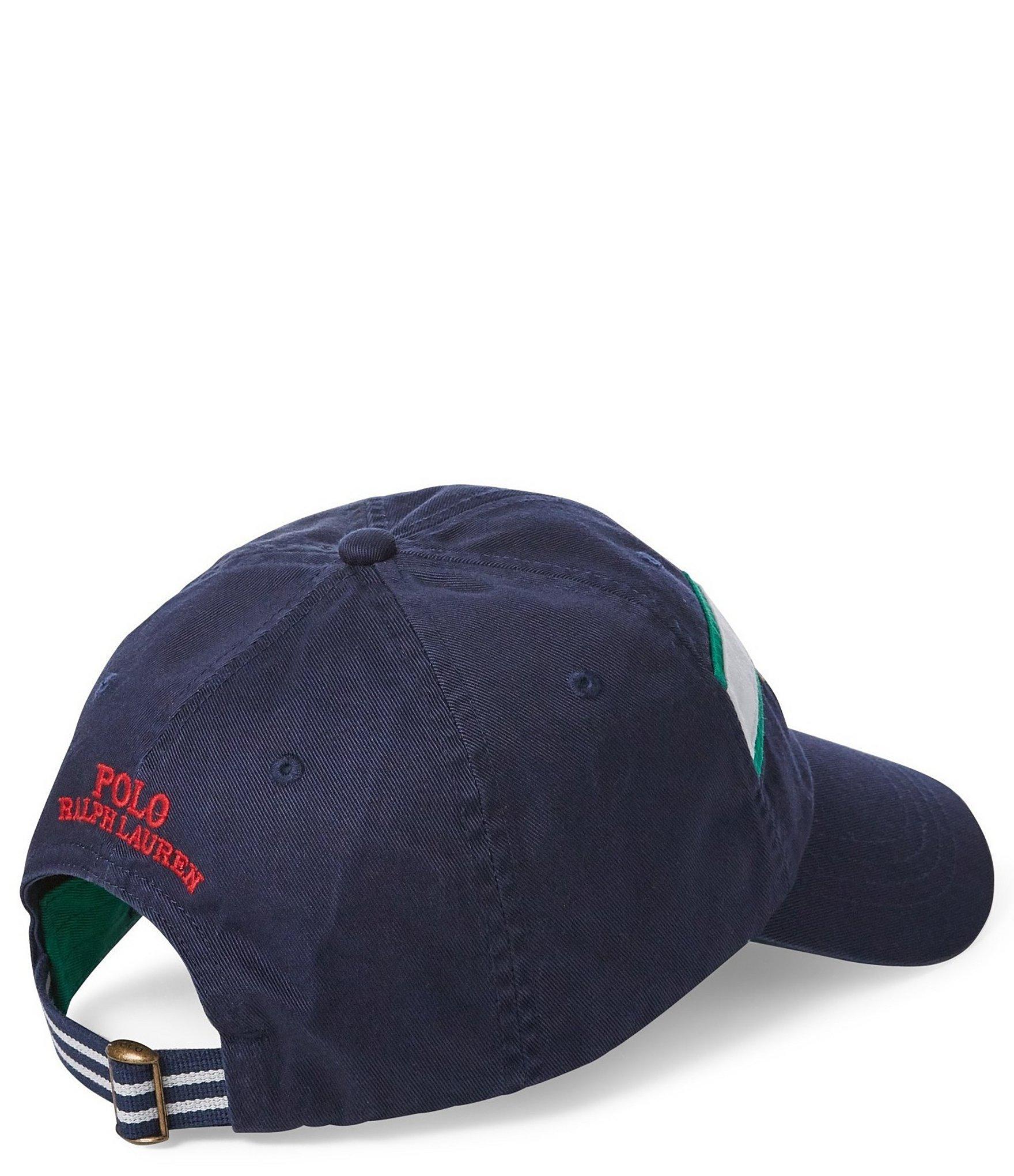 8a97c035e06b2 Polo Ralph Lauren - Blue Stripe Crest Baseball Cap for Men - Lyst. View  fullscreen