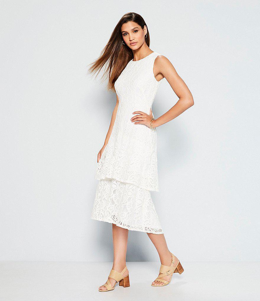 f0c81c4486e Lyst - Lauren by Ralph Lauren Florin Leather Dress Sandals