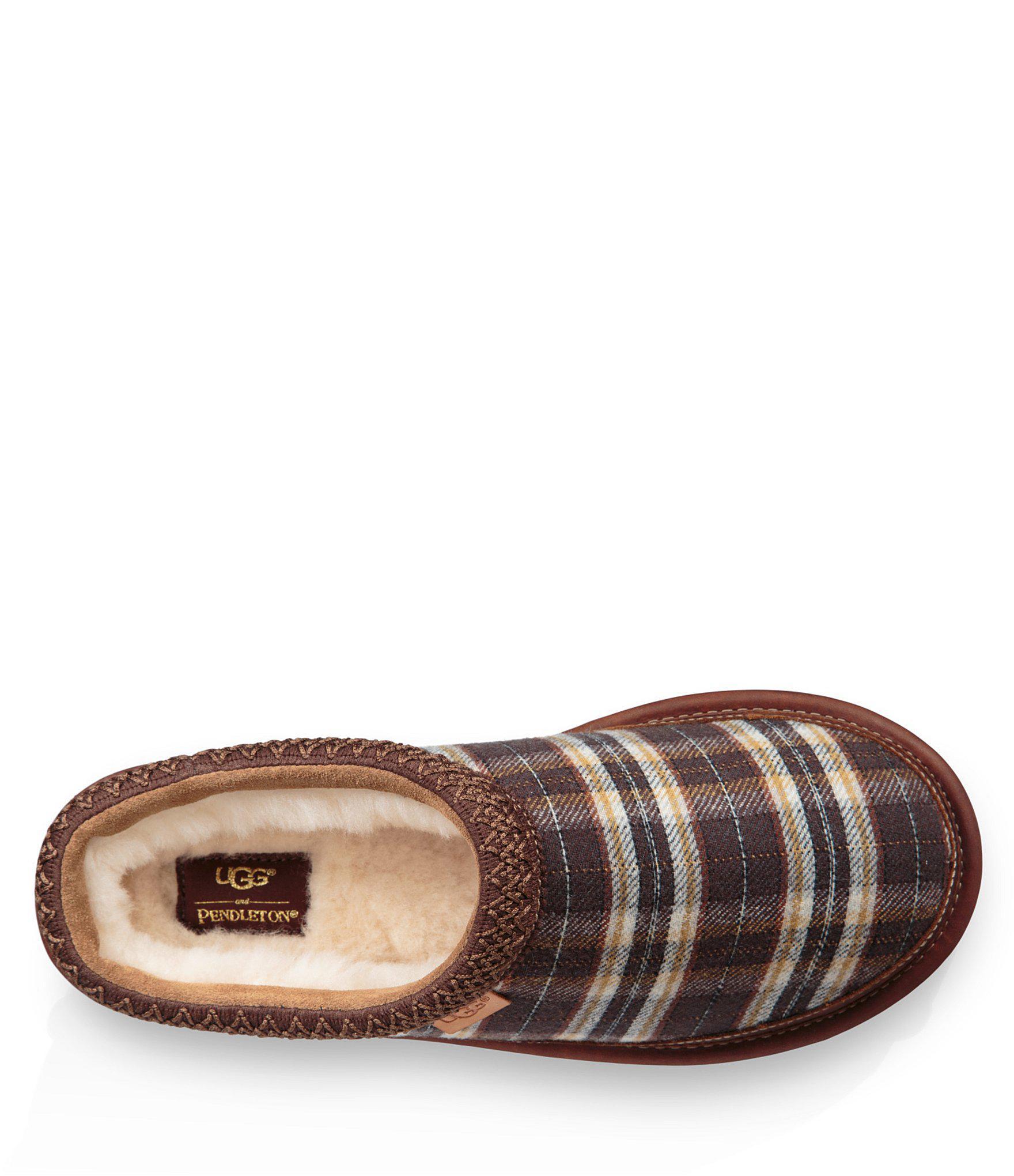 81f1bd8a370 Ugg Brown Men's Tasman Pendleton Plaid Slipper for men