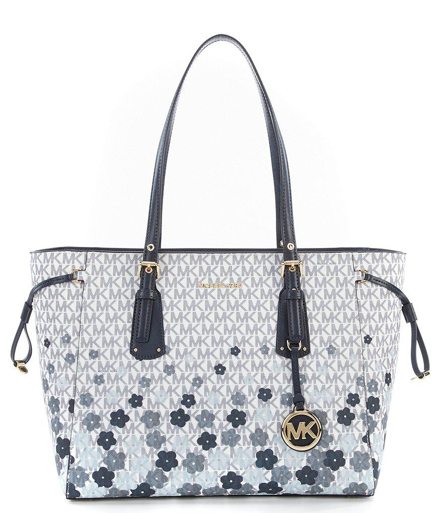 bc3cd3bdd94a MICHAEL Michael Kors Voyager Signature Floral Multifunction Tote - Lyst