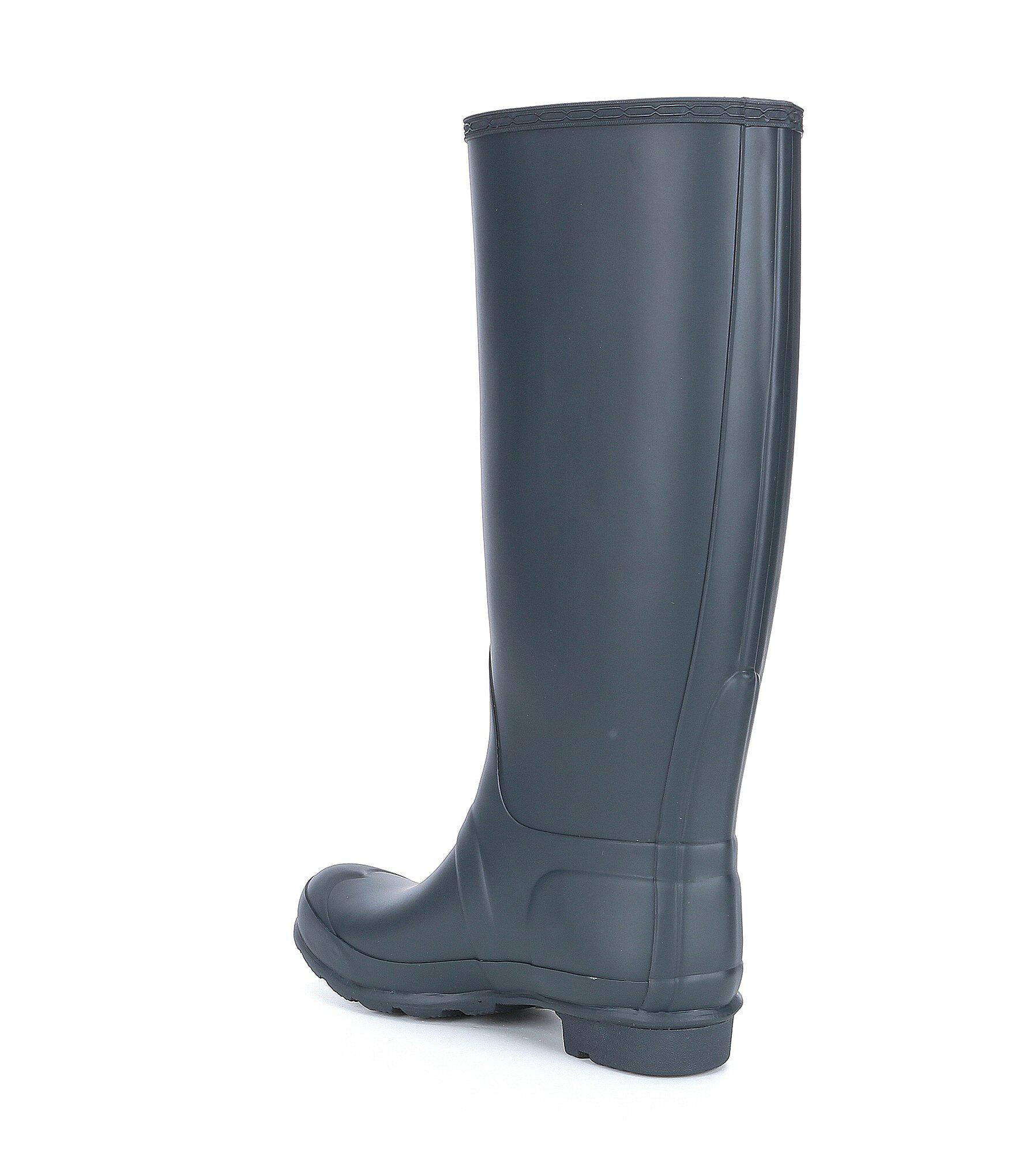 20b6417ecfec Hunter - Blue Women s Original Wide Calf Tall Rain Boots - Lyst. View  fullscreen