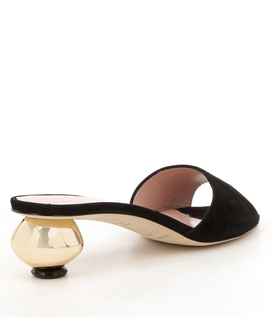 256cdb5ae995 Lyst - Kate Spade Paisley Dress Slides in Pink
