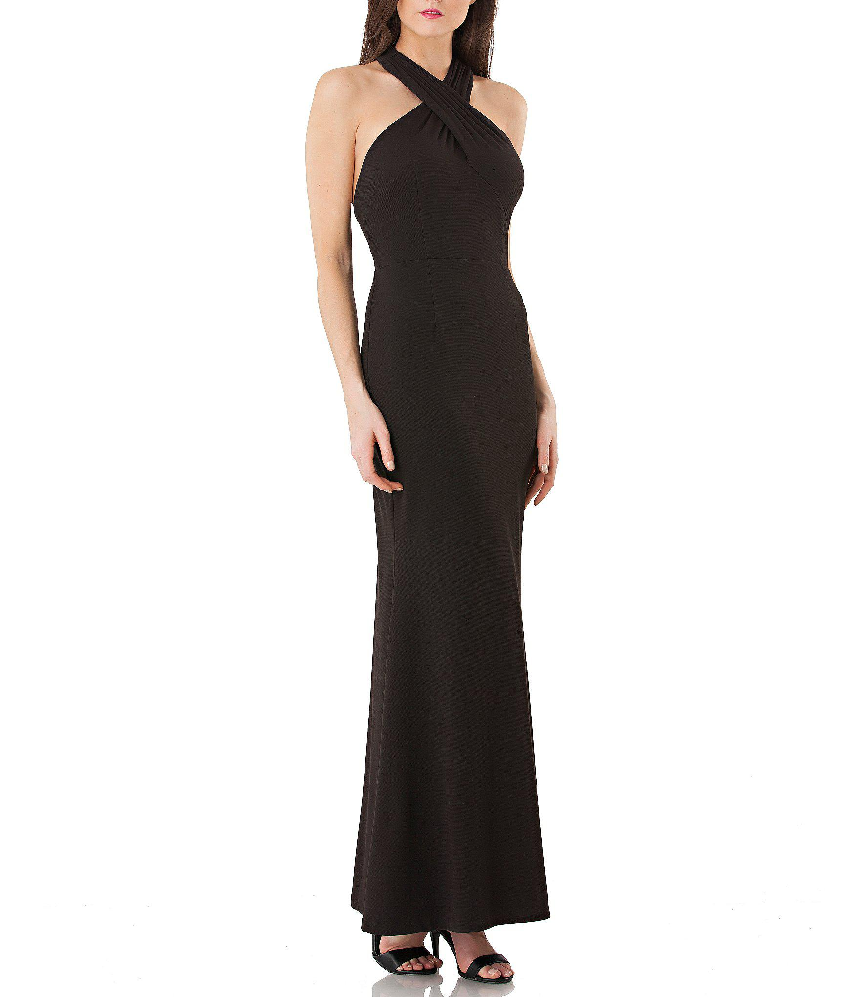 c7385b32cdbb Lyst - JS Collections Criss-cross Ottoman Gown in Black
