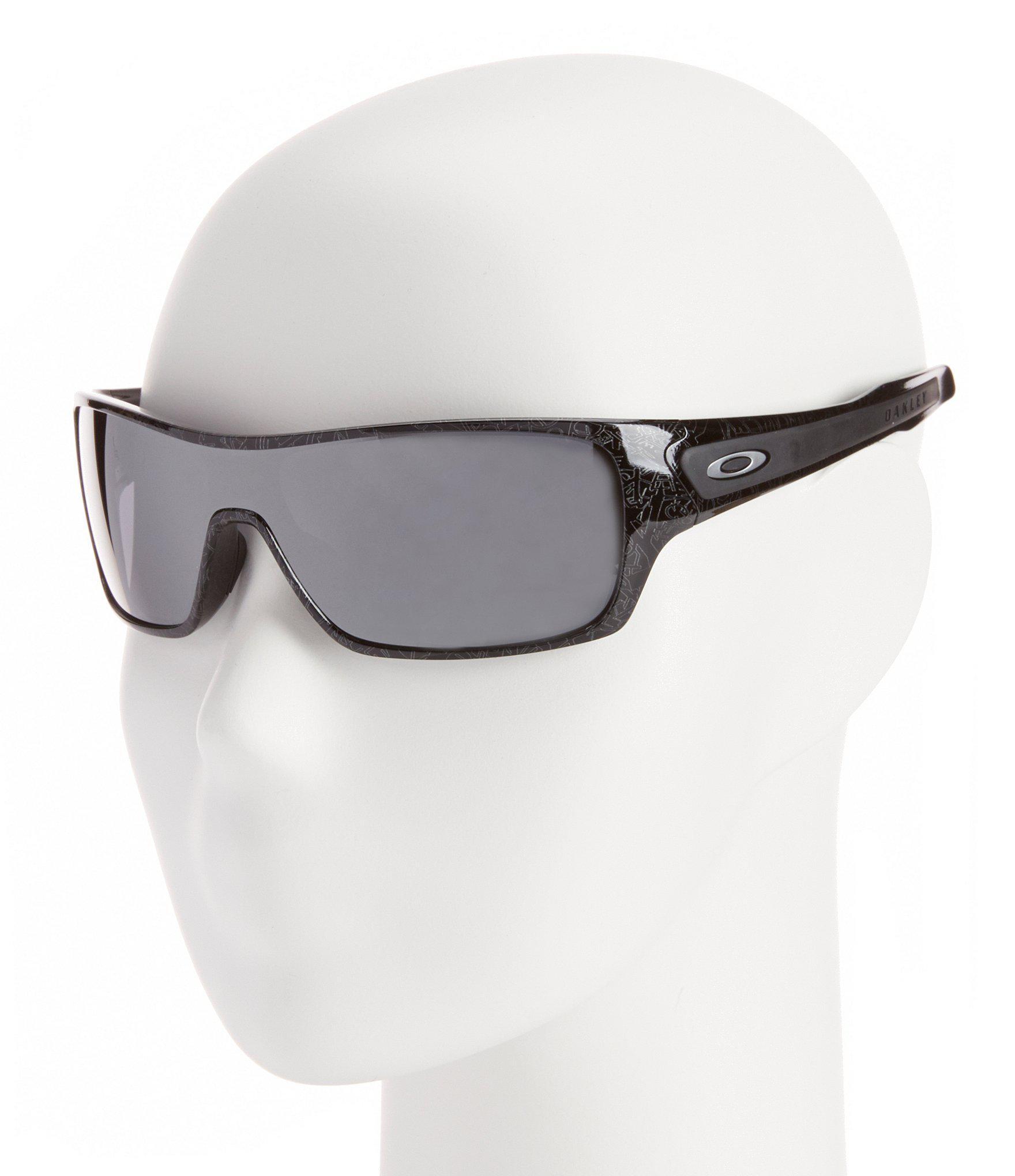 da6949ae05 Oakley - Turbine Mirrored Rectangular Black Sunglasses for Men - Lyst. View  fullscreen