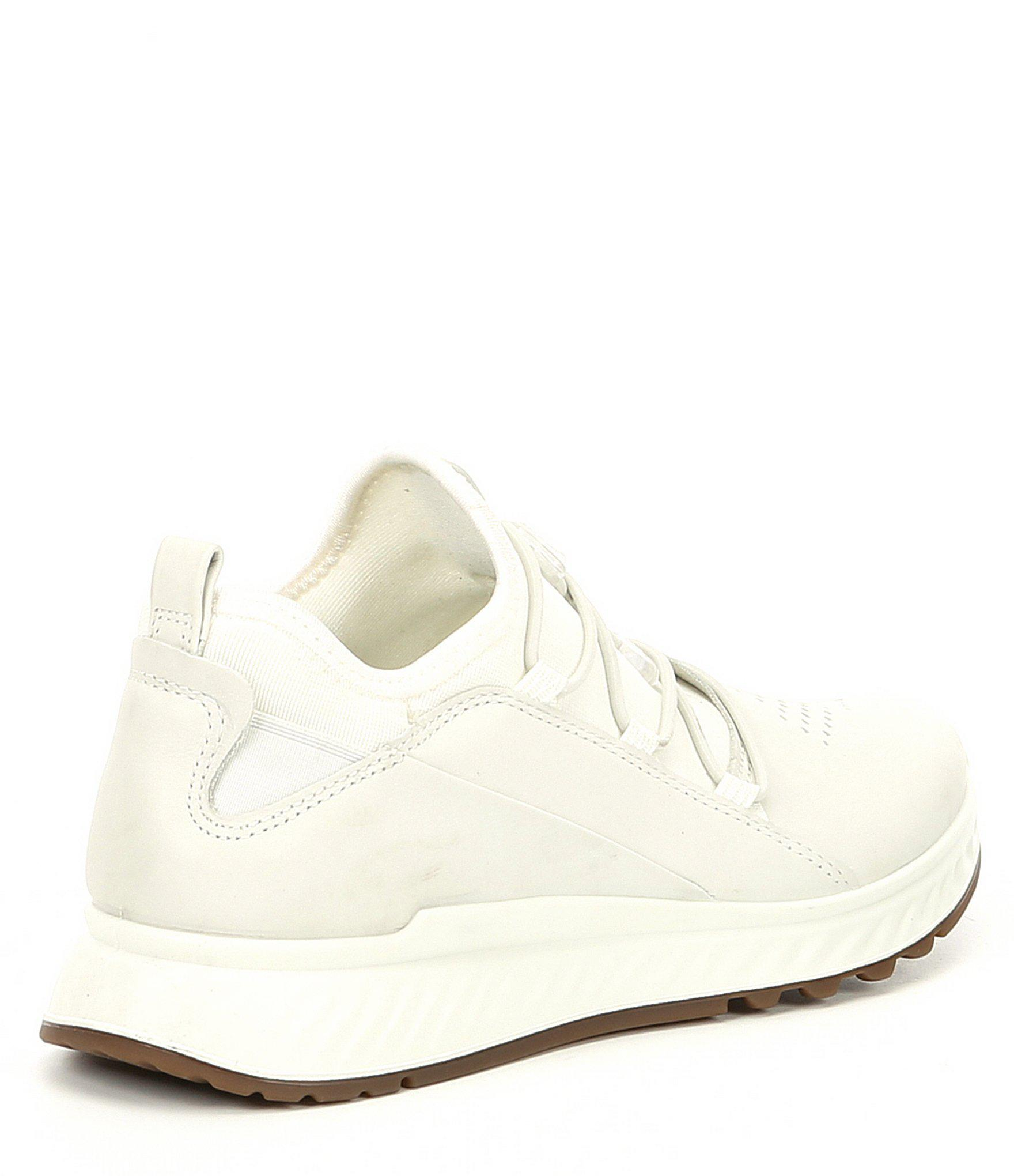 6a07366f Ecco White Women's St1 Toggle Leather And Neoprene Sneakers
