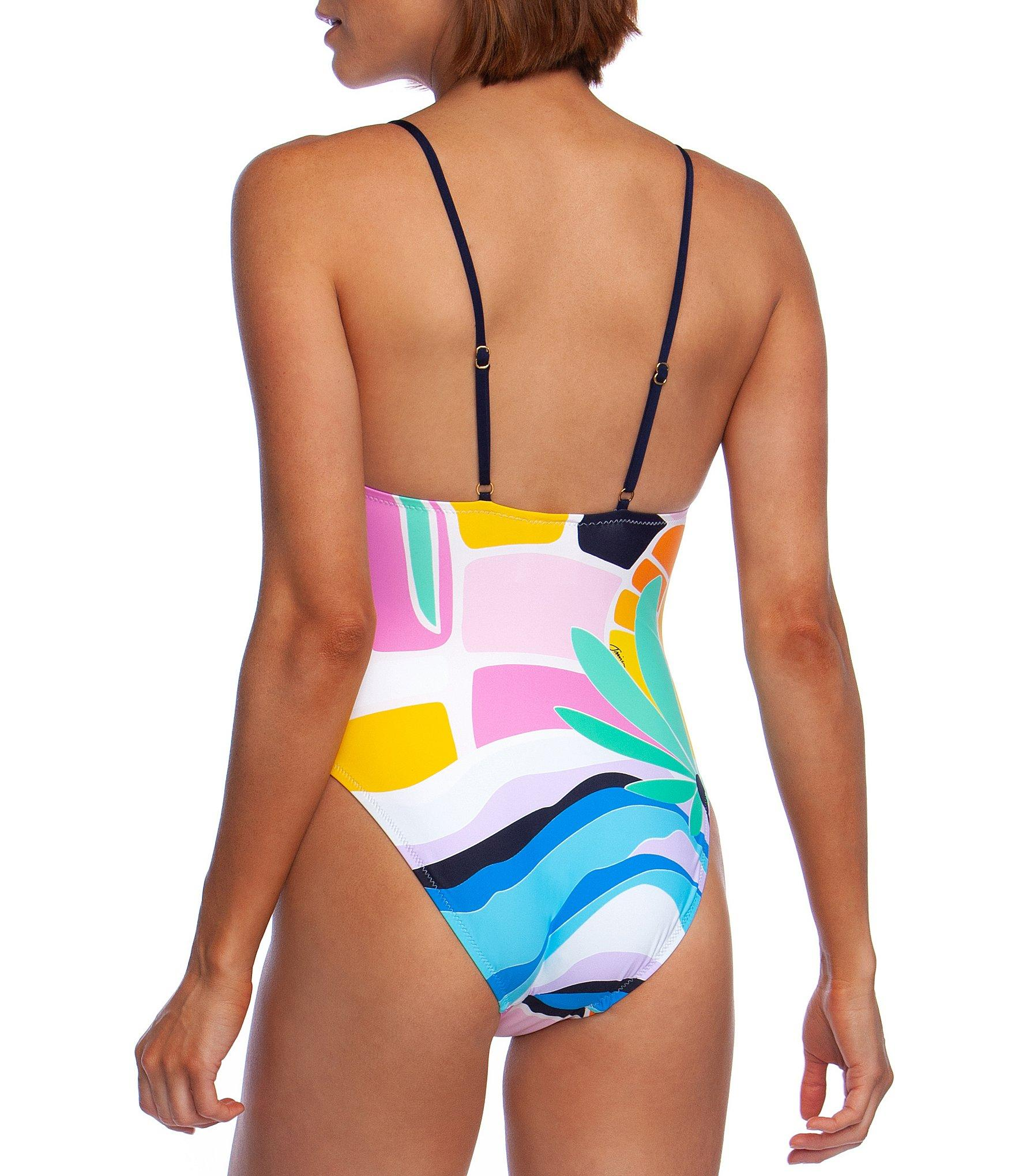 053cfc2466 Trina Turk Mosaic Sunrise High Leg One Piece Swimsuit - Lyst