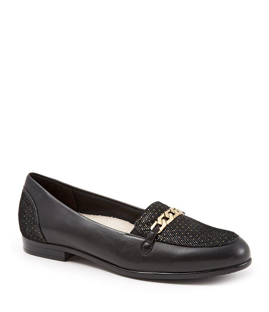 Trotters Anastasia Foil Dots and Chain Detail Loafers IuUEbjVXvg