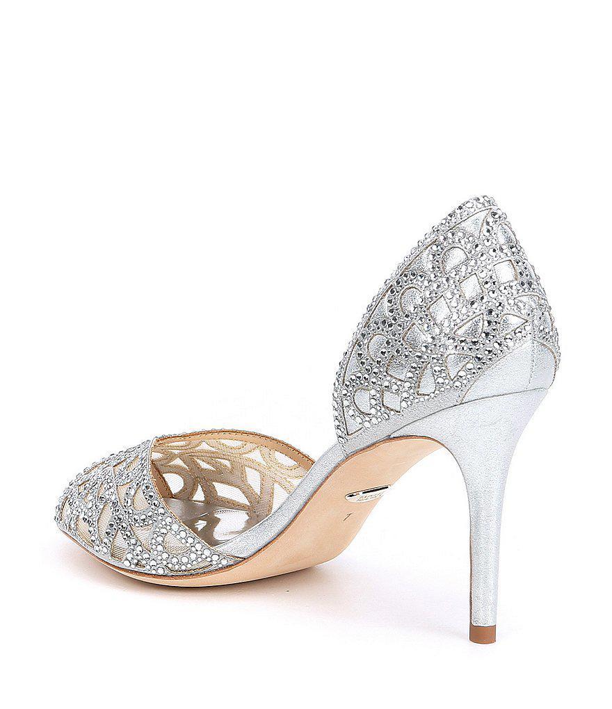 Harris Rhinestone Jeweled Metallic d'Orsay Pumps Mxl00QuW0q