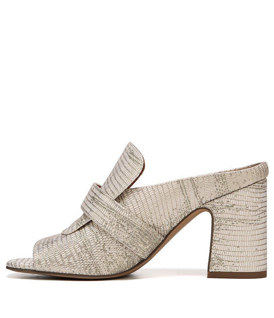 Sarto by Franco Sarto Rosalie Metallic Lizard Print Block Heel Dress Sandals RbiUv9GHa