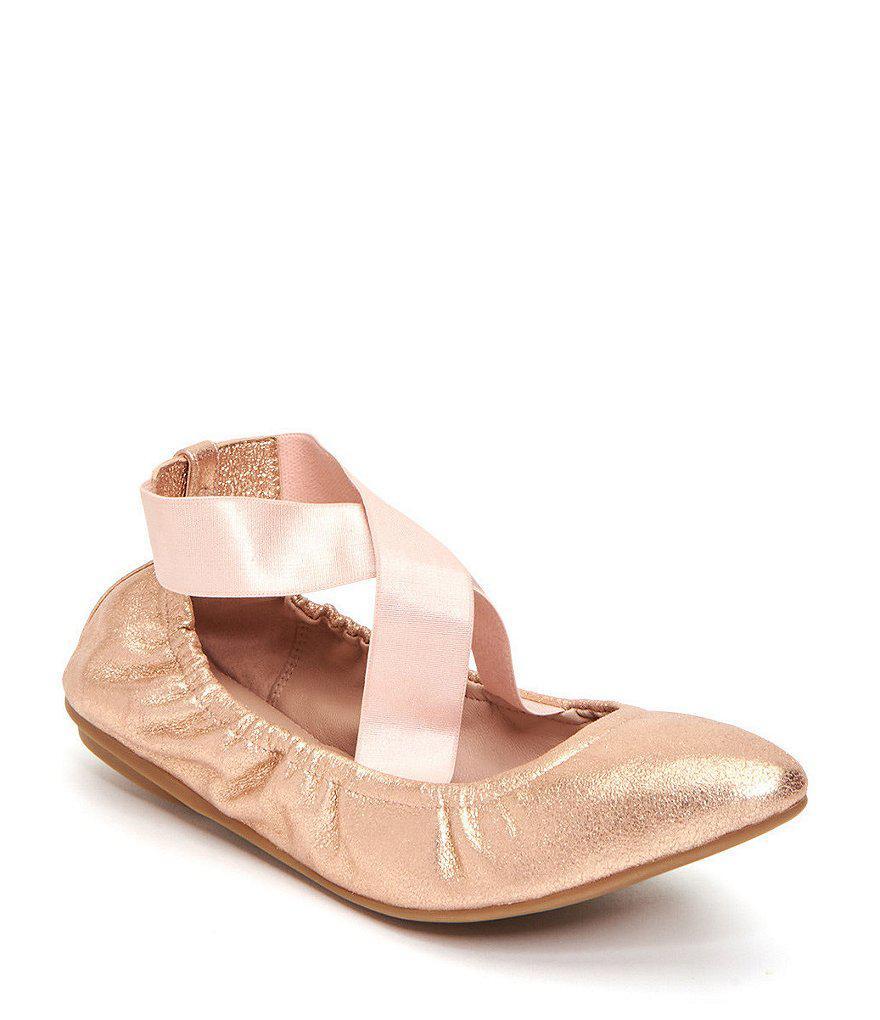 Taryn Rose Edina Silky Suede Ribbon Cross Over Strap Ballerina Slip-Ons WyFnFuthv
