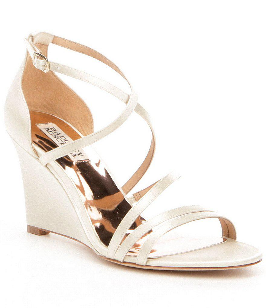 Briana Metallic Banded Block Heel Dress Sandals IcF8c